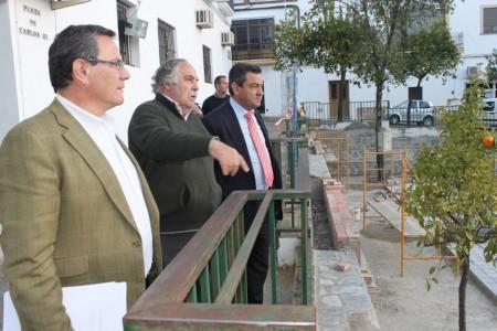 Loaiza, Becerra y Villar, en una visita del mes de marzo de 2014.