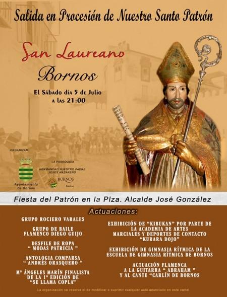 Cartel de San Laureano.