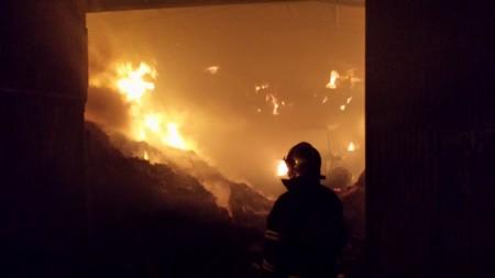 Incendio del pajar.