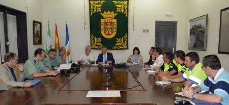 Asistentes a la reunión de la Junta Local de Seguridad de Olvera.
