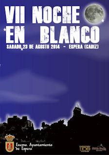 Cartel de la VII Noche en Blanco.