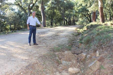 Alfonso Moscoso, en el carril Lomas y Matagallardos.