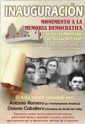 Cartel del homenaje.