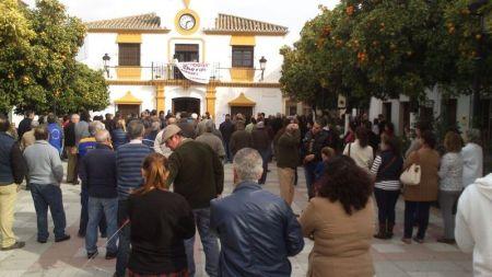 Asamblea ciudadana para exigir una solución a la crisis en Puerto Serrano.