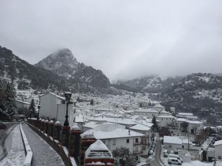 Nieve en Grazalema (Foto: Prensa Grazalema).
