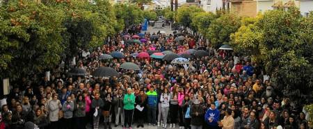 Manifestación en la Plaza Rodríguez Rivera de Puerto Serrano.
