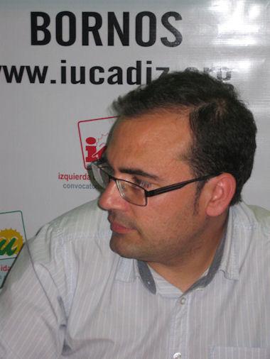 Hugo Palomares Beltrán, candidato de IU a la alcaldía de Bornos.