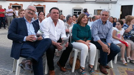 Dirigentes del PSOE, en el mitin.