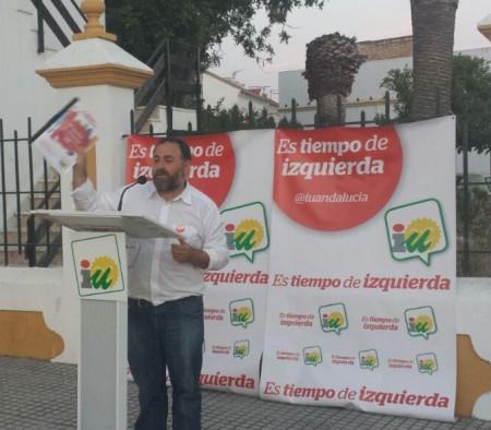 El candidato de IU a la alcaldía de Villamartín.