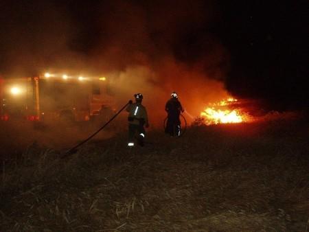 Actuación de los bomberos de Villamartín.