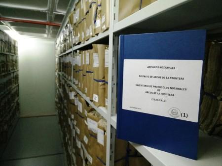 Legajos de los protocolos notariales.