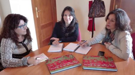 María Jiménez, María Isabel Moreno y Maribel Peinado.