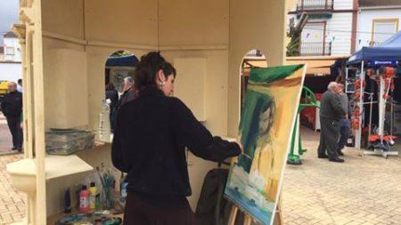 Concurso de pintura en vivo.