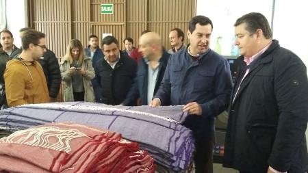 Visita a la fábrica de mantas de Graalema.