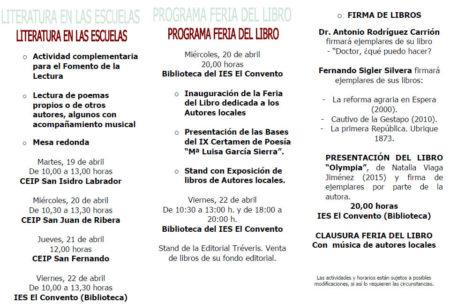 Programa de la Feria del Libro.