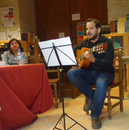 Música en la clausura de la Feria del libro de Bornos.