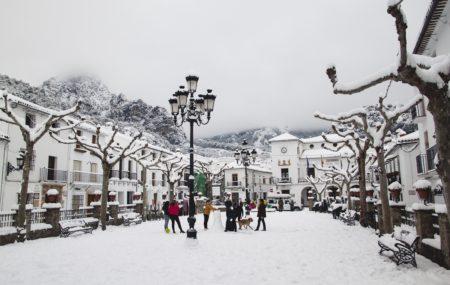 Nieve en Grazalama (Foto: Francisco Moreno).