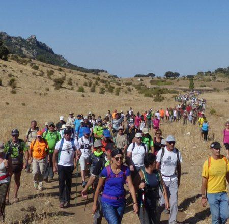 Participantes en la marcha.