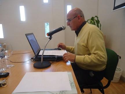 Manuel Garrucho, durante su exposición.