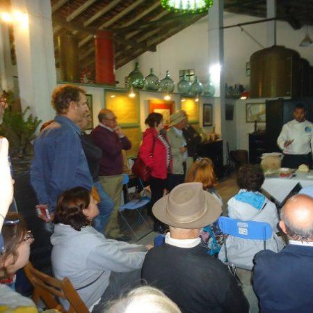 Presentación gastronómica por el chef Antonio Orozco.