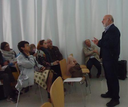 Javier Maldonado, durante su ponencia.