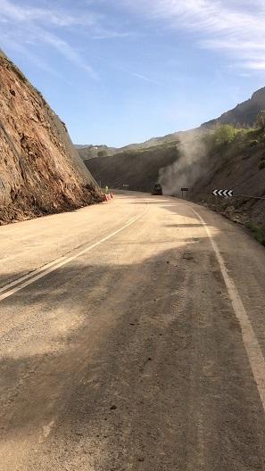 Carretera abierta al tráfico.