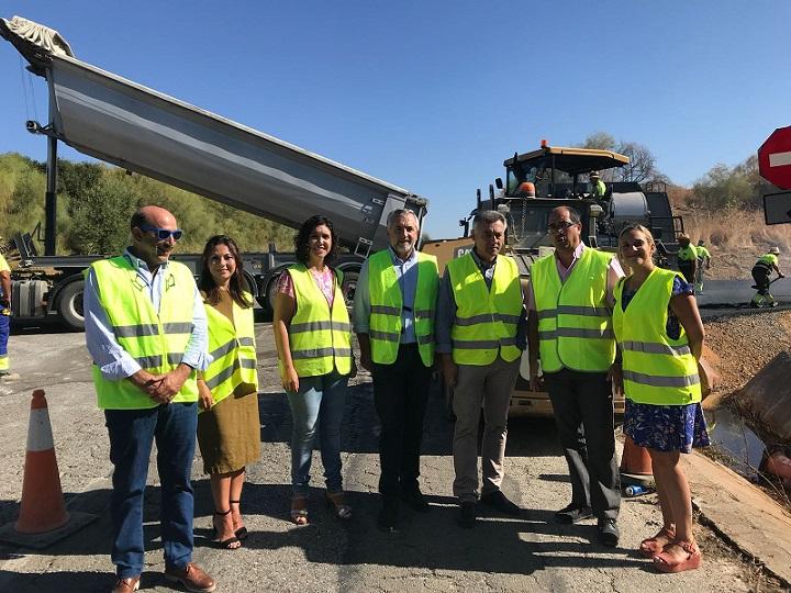 Iniciadas obras de emergencia en carreteras de diez municipios de la Sierra