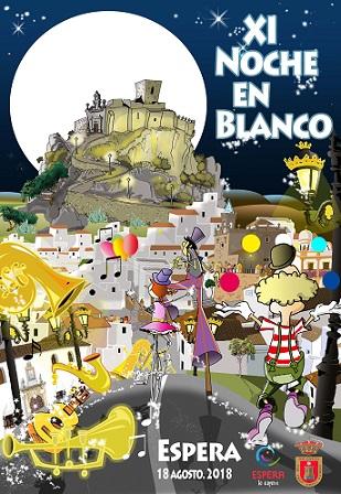 Cartel de la XI Noche en Blanco de Espera.