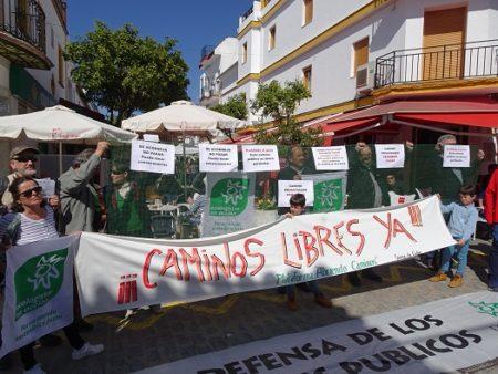 Protesta en Prado del Rey.