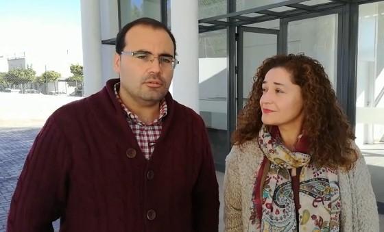 Hugo Palomares e Inmaculada Nieto (IU), en una imagen de archivo.