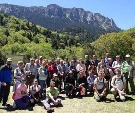Los participantes, en el Pinsapar.