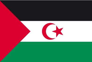Bandera saharaui.