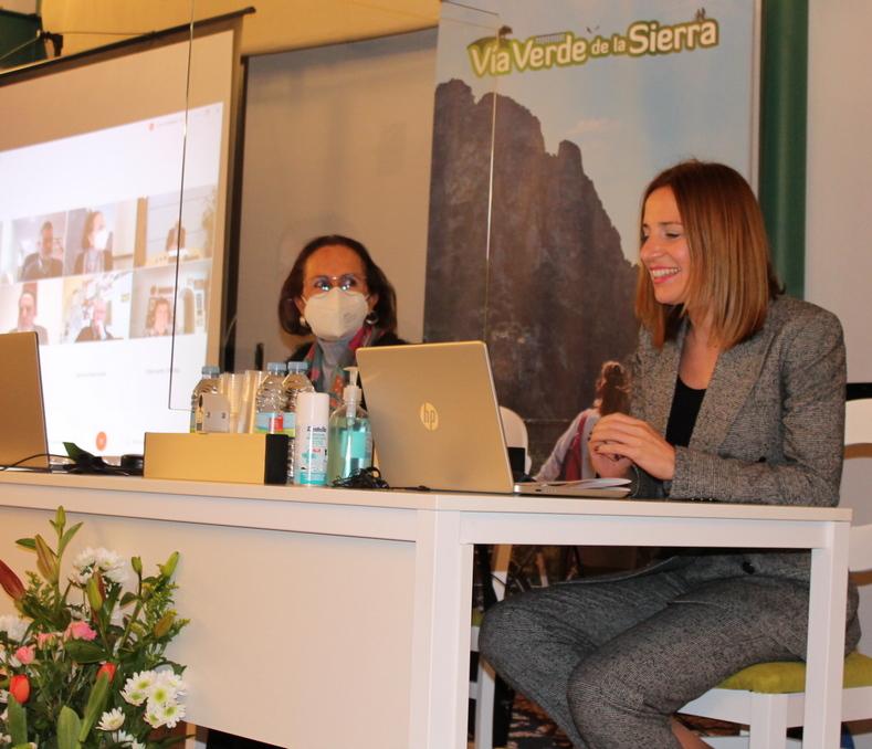 Ana Carrera, durante su intervención.