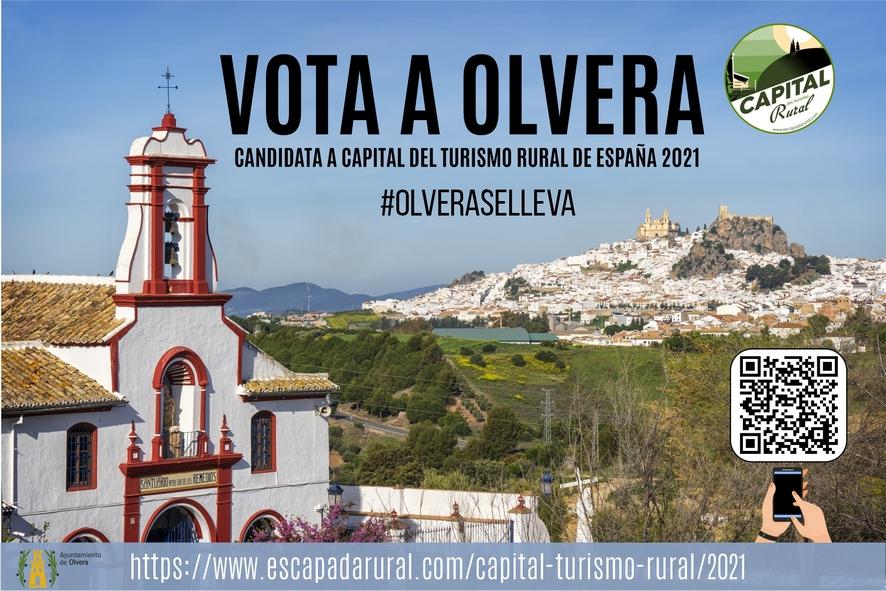 Cartel de la candidatura de Olvera.
