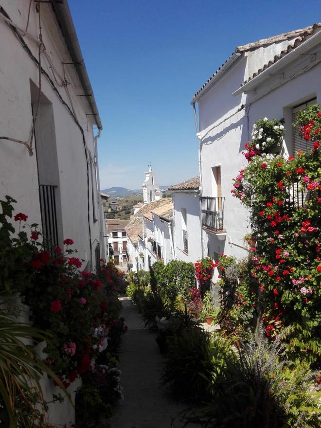 Una calle de El Gastor.