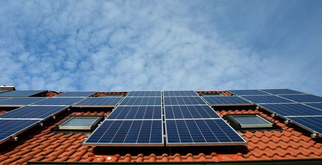 Placas de energía solar.