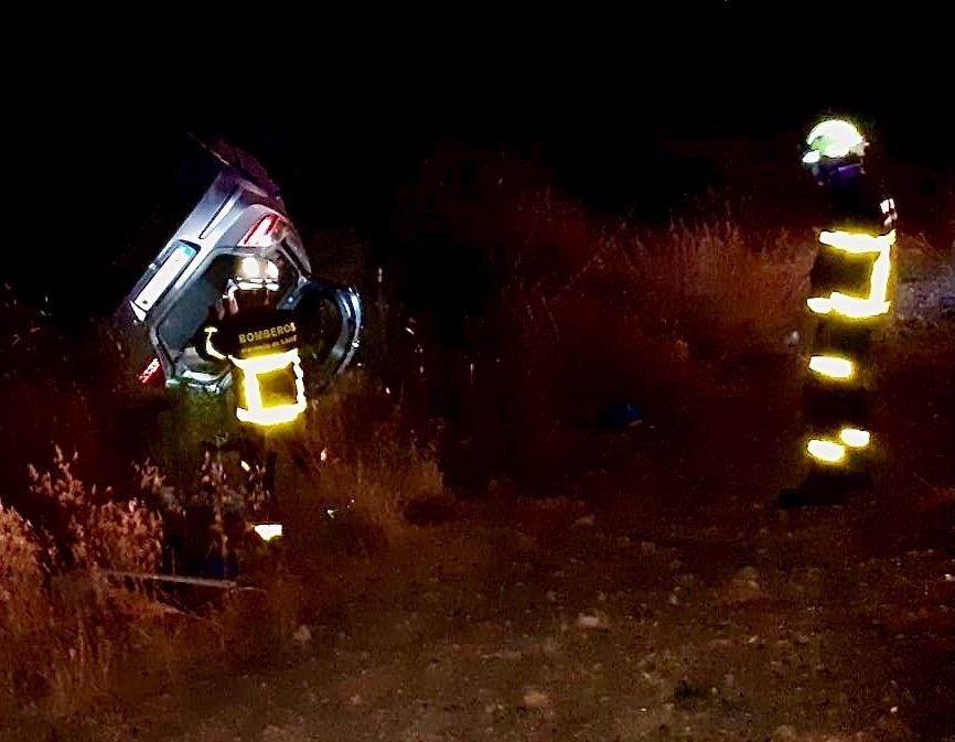 Un herido en un accidente de tráfico cerca de Coto de Bornos